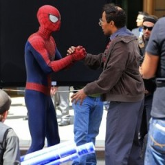 A Rhino Tease On 'Amazing Spider-Man' Set