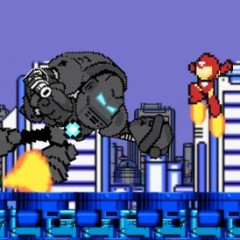 Iron Man in 60 Seconds Mega Man Style