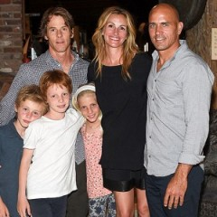 Julia Roberts Makes Rare Public Appearance With Her Kids