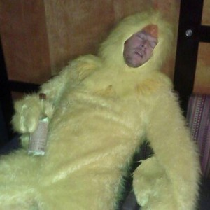 Blake Shelton Passed Out in a Chicken Suit