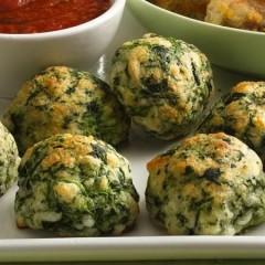 10 Minute Prep Spinach-Cheese Balls