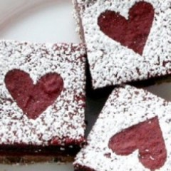 Moist Red Velvet Cookie Bars With Adorable Sugar Hearts
